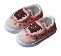 Baby Cute Canvas Shoes Spring And Autumn Dot Comfortable Prewalker