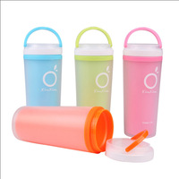 400ml wholeseale frosted plastic cups anti- leak-proof cup hot insulation stylish travel mug romatic valentine's cup