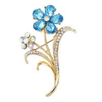 2014 New Elegant Rhinestones Acrylic Narcissus Flower Women Brooches Pins,Wedding dress Pins Mix.$10 Free Shipping,Cheap Price