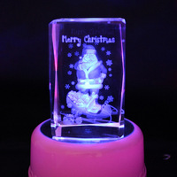 Reiki Christmas decoration feng shui 3D engraved crystal wedding gifts regalos de navidad artesanato glass pyramid crafts