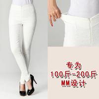 Fat Women Big Size Elastic Lace Pants 2XL,3XL,4XL Long Pencil Pants Free Shipping w8906