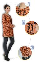 2014 Autumn Winter Crewnecks Long-sleeve Cardigans T-shirt Plus Size Clothing Elegant  Fashion Women's Knitted Sweater ZZ0816