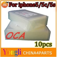 10pcs/lot For iphone 5 5s 5c OCA Optical Clear Adhesive Double Side Sticker Glue Thick For LCD/Digitizer Free Shipping