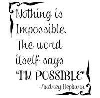 Free Shipping Original Nothing is Impossible  Decor vinyl wall decal quote sticker  On Wall Decal Sticker  Wall Room Decal