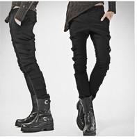 2014 men's slim personality casual pants man fashion punk skinny pants
