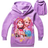 2014 frozen girls hoodies long sleeve frozen princess children sweatshirts,fashion new  baby kids outerwear jacket coat