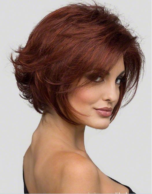 Female Fashion Wigs Short Curly Hair Fluffy Bangs