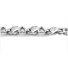 New 2014 Brand New Fashion Women Silver Quartz Heart Charm Link Chain Bracelet Wrist Watch Free