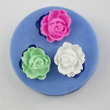 Cor aleatória Silicone Resin Flor molde em forma Para Ferramentas Decoração de Cozinha Drop Shipping HG -1249(China (Mainland))