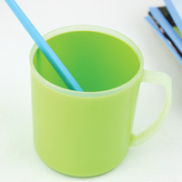 Home double cup cold water cup guesthouse multi- colored toothbrush cup plastic items Cups 8.5*8*9.5cm