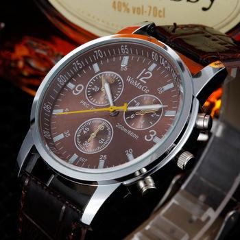 Новая акция, модные высококачественные аналоговые мужские кварцевые наручные часы с кожаным ремешком, бесплатная доставка
