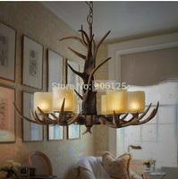6- Light Whitetail Antler Chandelier Light Hanging Rack Lamp Lodge Rustic Hunting Display  Guaranteed 100% +Free shipping!