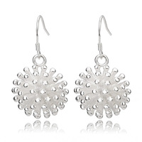 [Arinna Jewelry] 18K white gold plated silvery Earrings water Crystal Cubic Zircon denpant Earring for Women E2880