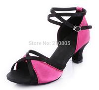 Fashion Latin/Modern/Tango Ballroom Women's Sandals High Heel Satin Dance Shoes  Free shipping