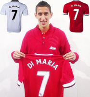 new arrival  di maria jersey   Free shipping 2014-15 away White embroidery logo home red  Soccer Jersey,Football shirt