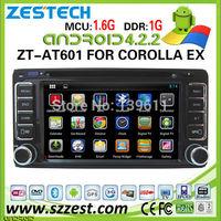 ZESTECH car gps navigation for Toyota Corolla EX car gps navigation system CD player Ipod 3G wifi