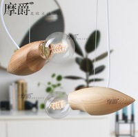 Free shipping Craft creative pendant light simple wooden pendant light with E27