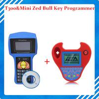 DHL Free Auto Transponder V14.2 T300 Key Programmer English Version & Mini Zed Bull key programmer transponder smart zedbull