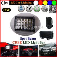 8 Inch Cree 72W  Led Work  Light Bar for Indicators Work Driving Led bar Offroad Boat Car Jeep Truck 4x4 SUV ATV Fog  9V-32V