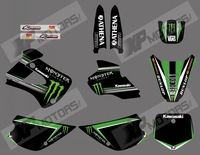 NEW STYLE 0471 TEAM GRAPHICS & BACKGROUNDS DECALS FOR KAWASAKI KX85 KX100 KX 85 1998 1999 2000