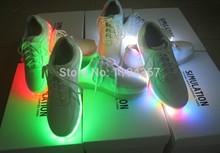 2014 Brand Unisex Men Women s Simulation LED Shoes USB Charge Light Leather Luminous Sneakers Club