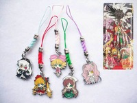 2014 New Hot Free shipping Anime RoMaiden Pendant Metal Cell Phone Strap Cosplay Gift figure keychain