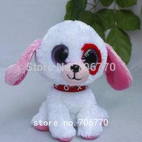 """IN HAND!  NEW 2014 TY BEANIES BOOS ORIGINAL ~Darlin Dog pubby~ 6"""" 15CM NO HEART TAG plush big eyes Glitter eye doll Stuffed TOY"""
