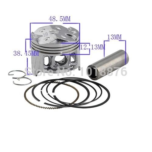performance oversize +25 +50 48.5 bore Chromium aluminium motor piston kit cylinder piston&ring for HONDA CBR250 MC19 CBR19 KY1(China (Mainland))