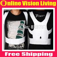 Free Shipping Hot sale!!!1 pcs Magnetic Posture Support Corrector Body Back Pain Belt Brace Shoulder A0563