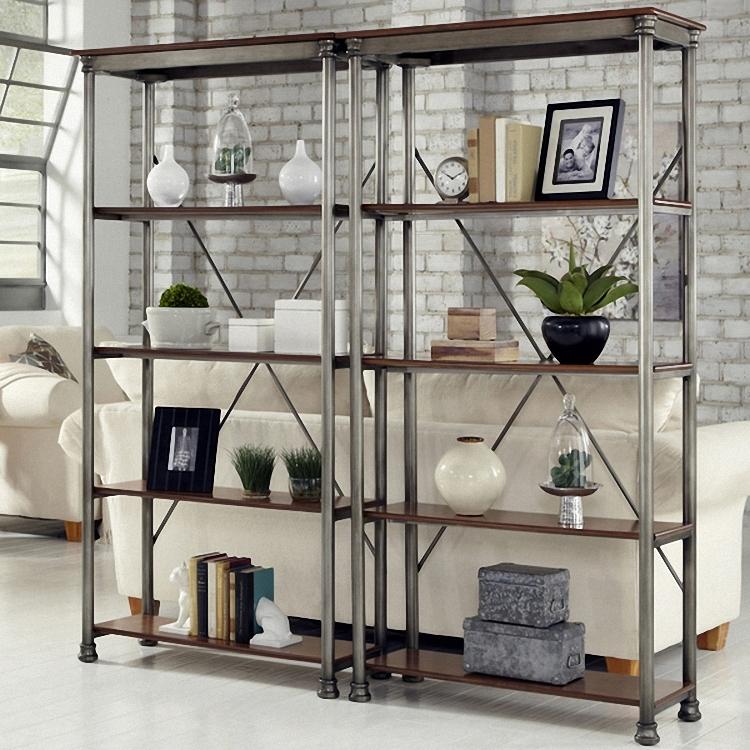 American Village iron floor racks five shelves retro furniture custom grid shelf display(China (Mainland))