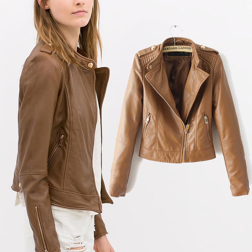 Leather Brown Jacket Women - Jacket