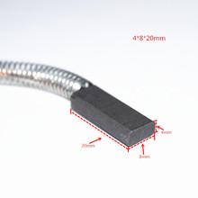 Бесплатная доставка 5 пар угольные щетки 4 * 8 * 20 мм для центробежной машины, электроинструмент молоток кисти