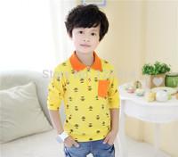 Free Shipping Baby Boy Cotton T Shirts2014 Spring Autumn New Long-sleeved T-shirt POLO Shirt