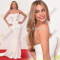 Sofia Vergara Joe Manganiello too hot-for Emmys 2014 Red Carpet Designer Celebrity Dresses Mermaid Strapless Beaded  Dresses