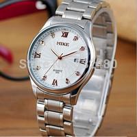 3pcs Hong Kong Mike fashion high-grade quartz wristwatch,British wind Retro calendar strip waterproof watch