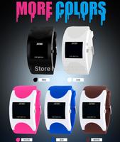 12pcs/lot SKMEI LED Digital Women Men Outdoor Casual Watches Waterproof Rubber Band Wristwatches 2014 New Fashion Free Shipping
