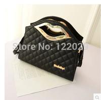 Free shipping Personality Lip women's handbag fashion Plaid tote bags 0.5kg new lady PU leather shoulder&messenger bag