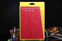 5 Shapes Magnetic Stand Design PU Leather Case for iPad Air 9.7'' Smart cover Sleep Function for iPad 5 Flip Thin Transformer