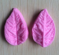 Free Shipping Leaf Shaped Silicone Press Mold Cake Decoration Fondant Cake 3D Food Grade Silicone Mould  C346