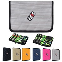 Case for USB Flash Drive Hard Drive Cable Memory Card Organizer Storage Bag Portatable Multi Colors