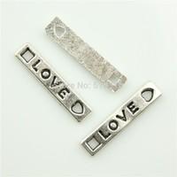 100pcs 21*4mm love charms antique silver tone evening love Pendant