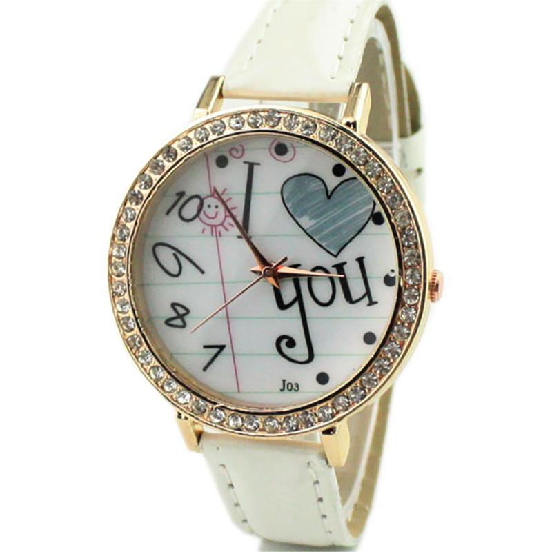New arriva casual analog alloy cartoon relojes free shipping women(China (Mainland))