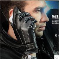 Size M L XL XXL 2014 Winter Men's Fashion Leather Gloves Cool Bicycle Glove 6084
