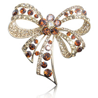 New fashion crystal bow brooch full of diamond jewelry brooch pin badge luxury multicolor