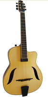 Mahogany Fully Handcraft Hot Sale Yunzhi Jazz Guitar