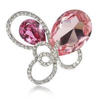 Fashion ruby crystal bow brooch rhinestone brooch pin jewelry Austria