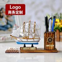 Boat pen wool sailboat model desktop decoration business gift logo teachers day gift