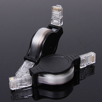 Travel connection line two-way retractable ethernet cable double crystal head network cable double crystal head