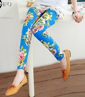 EAST KNITTING OT-080 2014 Fashion Woman Houndstooth Milk Silk Bars Leggings High Elastic Ankle Length Trousers Leggings woman
