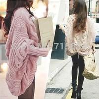 2014 Women Fashion Winter Casual Batwing Sleeve Knitting Sweater Loose Bat Sleeve Cardigans Shawl New Ladies Knitwear Sweaters